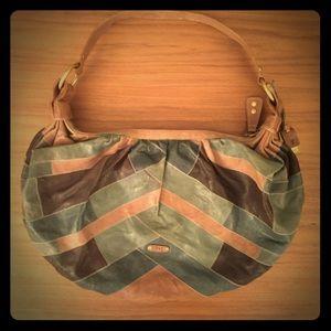 Frye Patchwork Leather Hobo Bag